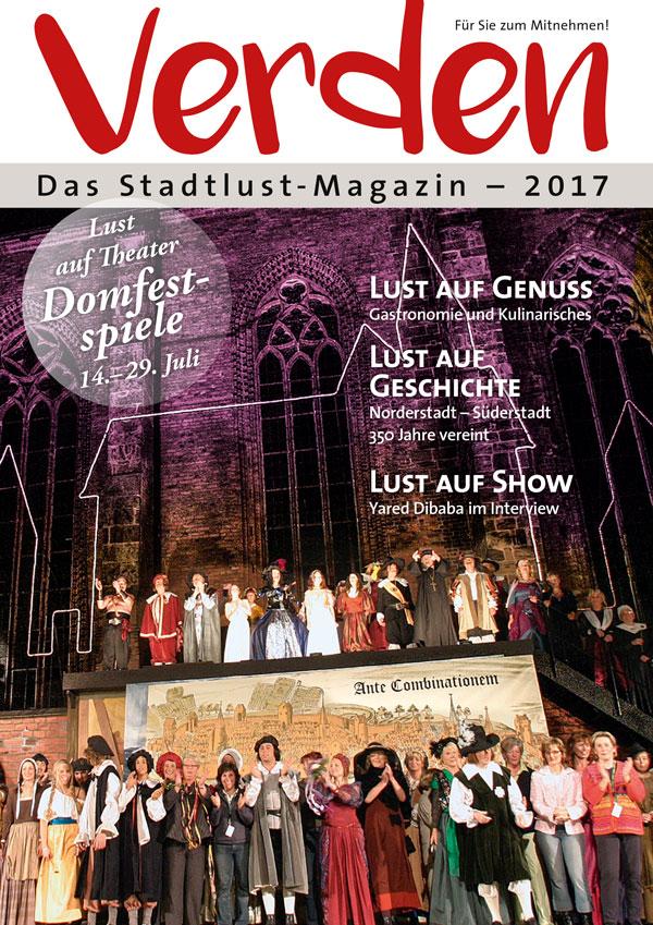Titelseite Verden – Das Stadtlust-Magazin 2017