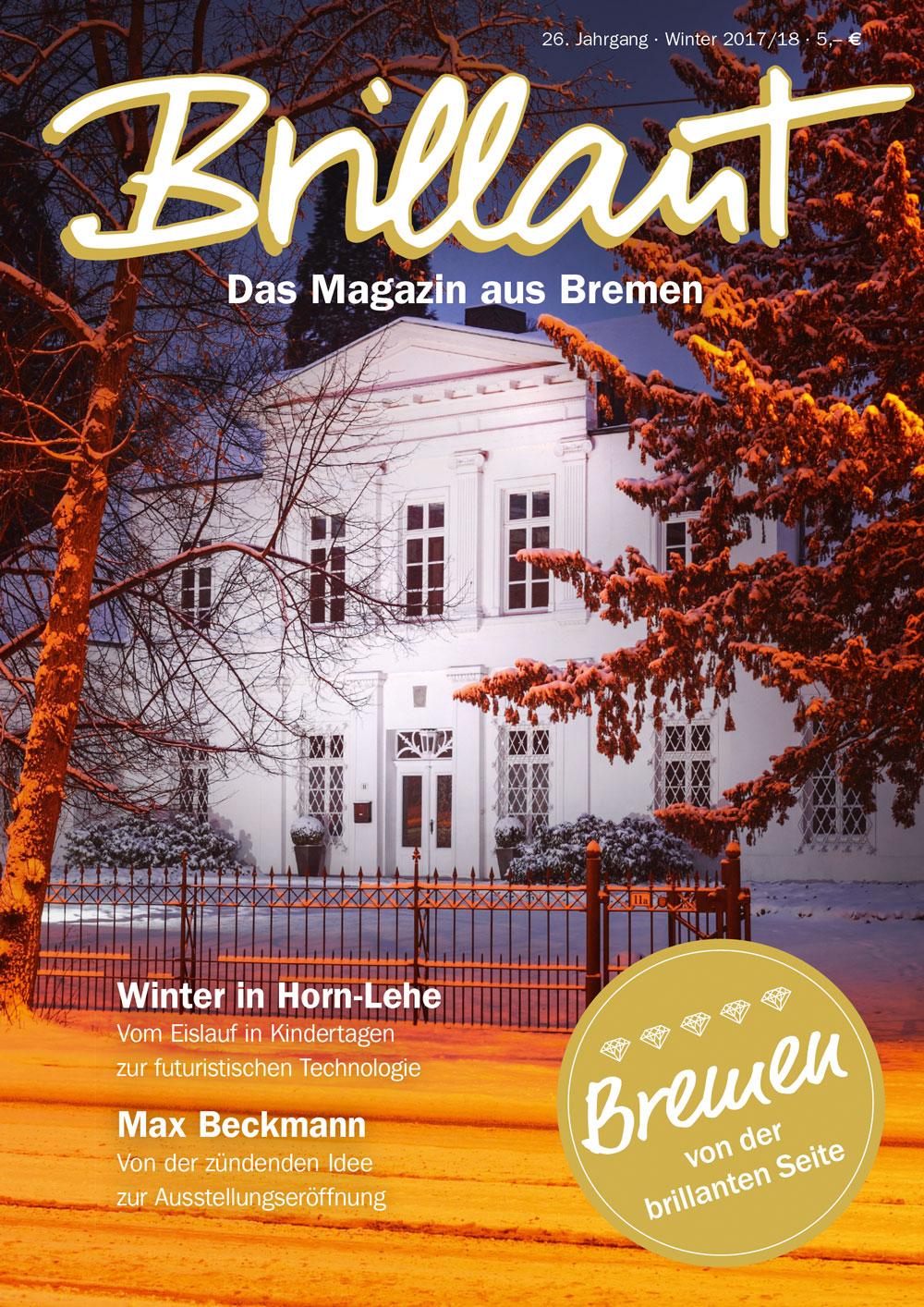 Brillant – Das Magazin aus Bremen – Titelseite Winter 2017