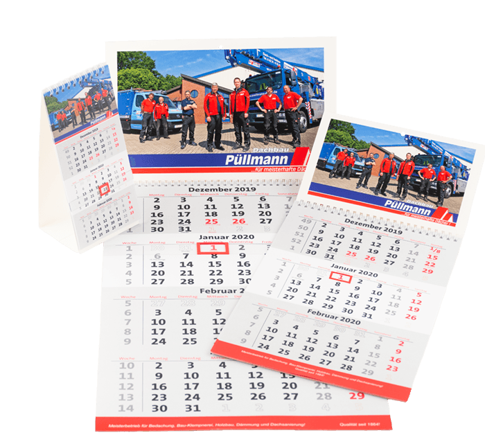 Mehrmonatige Firmenkalender